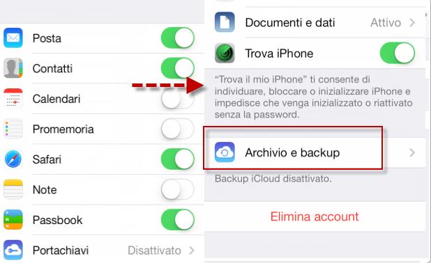 como fazer backup do iphone